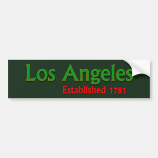 Long Beach Established Vehicle Bumper Sticker