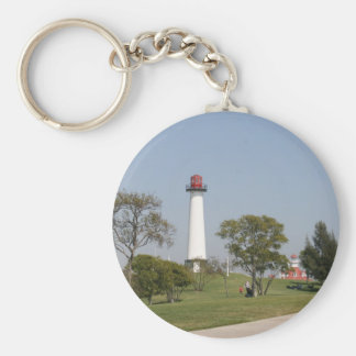 Long Beach Lighthouse Key Ring