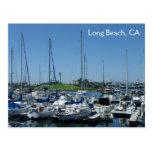Long Beach Lighthouse & Sailing Boats Postcard! Postcard