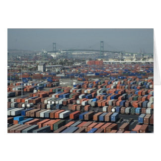 Long Beach Shipping Containers Card
