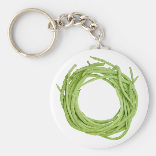 Long beans basic round button key ring