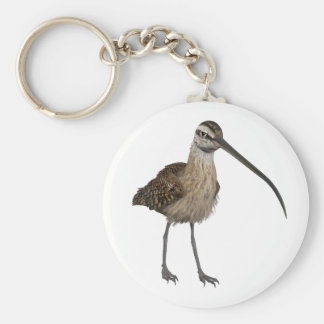 Long-Billed Curlew Basic Round Button Key Ring