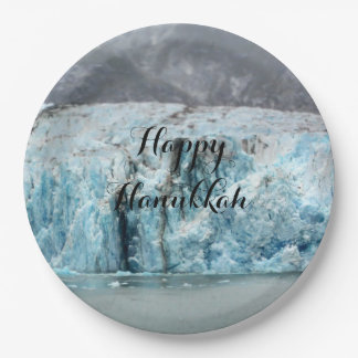 Long Blue Glacier Paper Plate