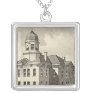 Long Branch Graded School, Long Branch, NJ Silver Plated Necklace