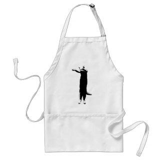Long cat meme apron