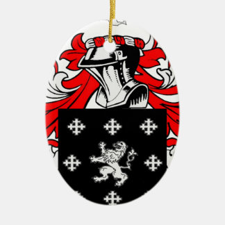 Long Coat of Arms Ceramic Oval Decoration
