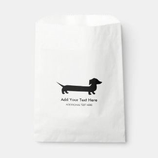 Long Dachshund Funny Drawing Favour Bags