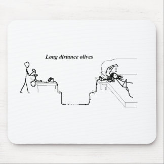 Long-distance olives mouse pad