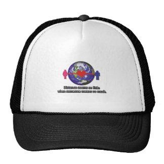 Long Distance Relationship Couple Mesh Hats