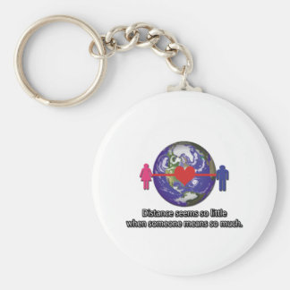 Long Distance Relationship Couple Key Chain