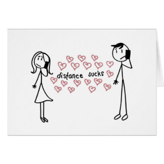 Long Distance Relationship Greeting Card