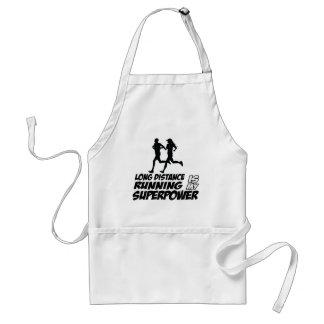 Long distance running standard apron