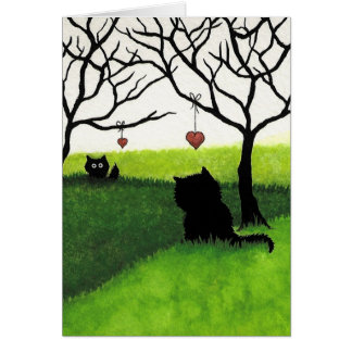 Long Distant Love - Missing you by AmyLyn Bihrle Greeting Card