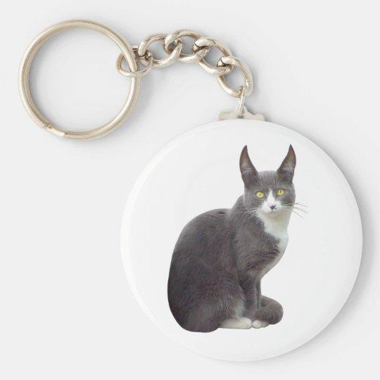 Long Eared Cat Key Ring