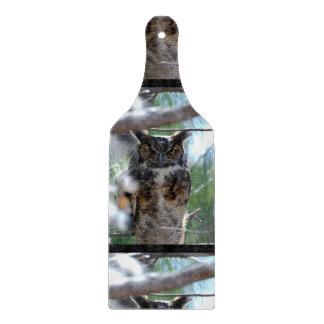 Long-Eared Owl Cutting Board