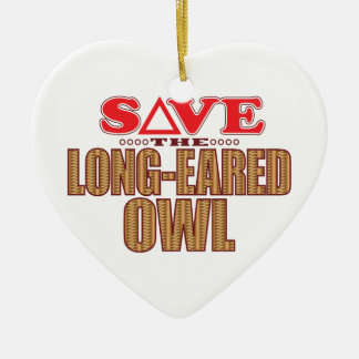 Long-Eared Owl Save Christmas Ornament