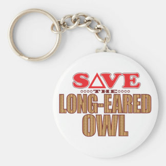 Long-Eared Owl Save Key Ring