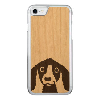 Long Ears Dog Carved iPhone 7 Case