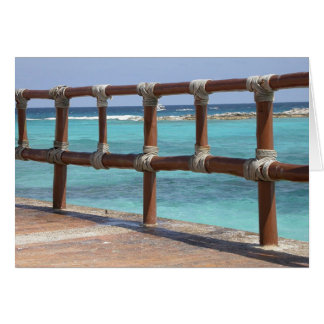 Long Fence Greeting Card