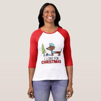 Long for Christmas-Dachshund T-Shirt