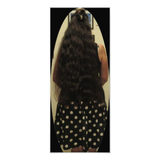 Long Hair And Polka Dot Skirt Photo Print