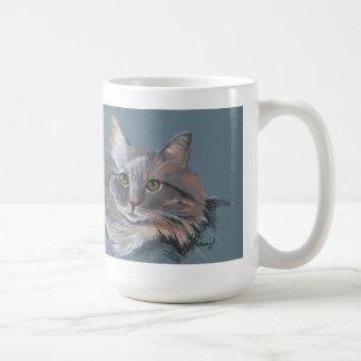Long hair cat mug