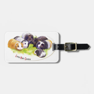 Long Hair Cavies Luggage Tag