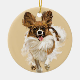 Long Hair Chihuahua Christmas Ornament