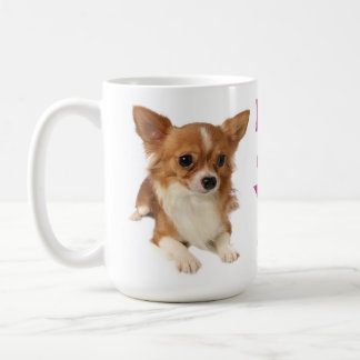 Long Hair Chihuahua Puppy Dog Purple Love Coffee Mug