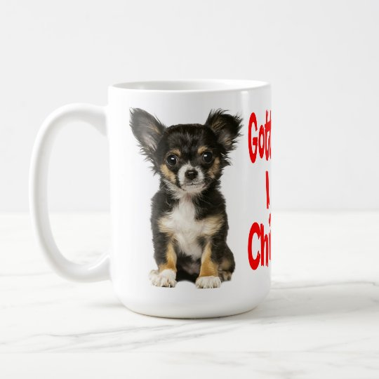 Long Hair Chihuahua Puppy Dog Red Love Coffee