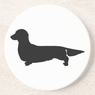 Long Hair Dachshund Sandstone Coaster
