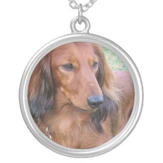 Long Hair Daschund Dog Necklace
