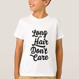 Long Hair Don't Care Kids T-Shirt