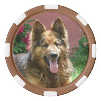 Long Hair German Shepherd Poker Chip Set