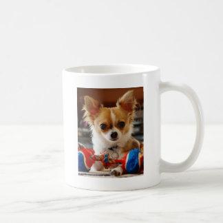 Long Haired Chihuahua Basic White Mug