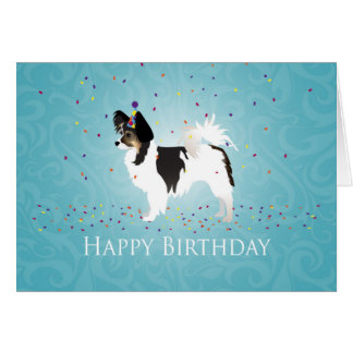 Long-Haired Chihuahua Birthday Design Greeting Card
