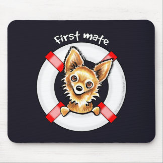 Long Haired Chihuahua First Mate Mouse Pad