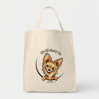 Long Haired Chihuahua IAAM Tote Bag