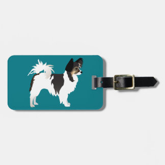 Long-haired Chihuahua or Papillon Basic Design Luggage Tag