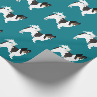 Long-haired Chihuahua or Papillon Basic Design Wrapping Paper