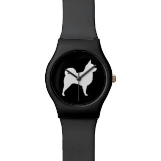 Long Haired Chihuahua Silhouette Wristwatch