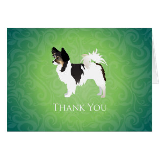 Long-haired Chihuahua Thank You Design Greeting Card