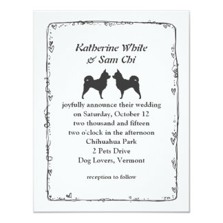 Long Haired Chihuahuas Wedding Announcement