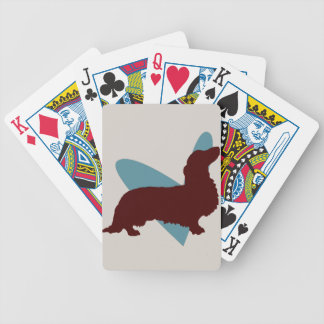 Long-haired Dachshund Playing Cards