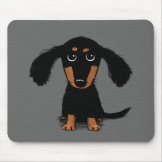 Long Haired Dachshund Puppy Mouse Mat