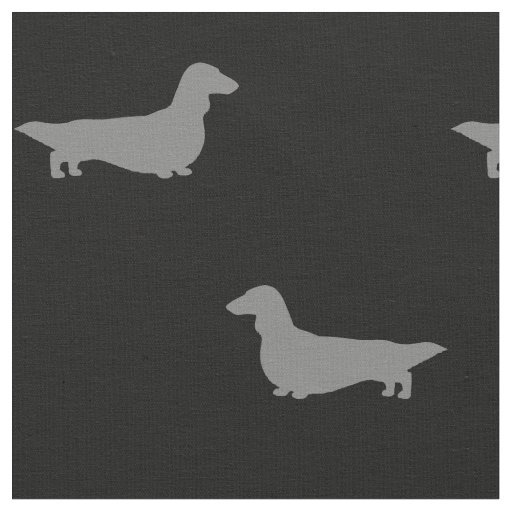 long haired dachshund silhouettes pattern fabric zazzle co uk