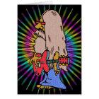 Long Haired Hippie Rocker Card