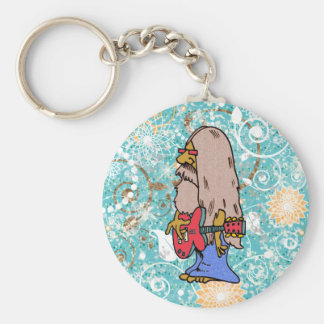 Long Haired Hippie Rocker Key Chains