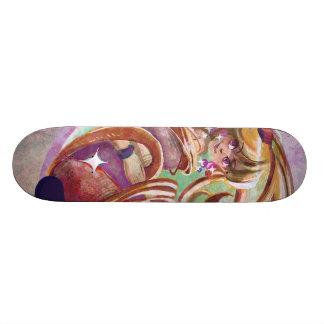 Long Haired Lady Skateboard Custom Skateboard