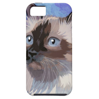 Long-haired Siamese Himalayan Cat iPhone 5 Cover